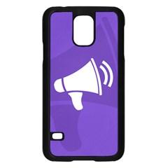 Announce Sing White Blue Samsung Galaxy S5 Case (Black)