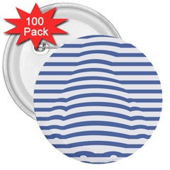 Animals Illusion Penguin Line Blue White 3  Buttons (100 pack)