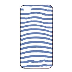 Animals Illusion Penguin Line Blue White Apple iPhone 4/4s Seamless Case (Black)