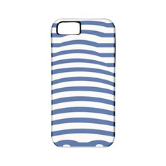 Animals Illusion Penguin Line Blue White Apple iPhone 5 Classic Hardshell Case (PC+Silicone)
