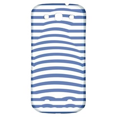 Animals Illusion Penguin Line Blue White Samsung Galaxy S3 S III Classic Hardshell Back Case