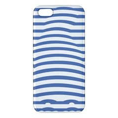 Animals Illusion Penguin Line Blue White Apple iPhone 5 Premium Hardshell Case