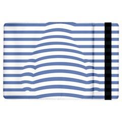 Animals Illusion Penguin Line Blue White iPad Air Flip