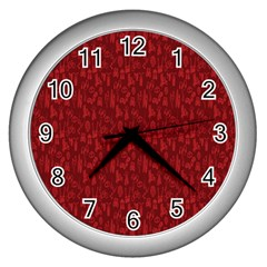 Bicycle Guitar Casual Car Red Wall Clocks (Silver)