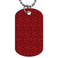 Bicycle Guitar Casual Car Red Dog Tag (Two Sides)