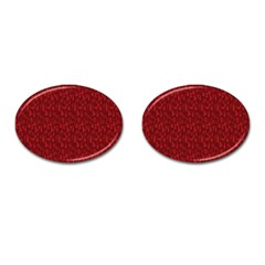 Bicycle Guitar Casual Car Red Cufflinks (Oval)