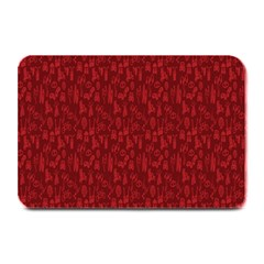 Bicycle Guitar Casual Car Red Plate Mats