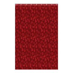 Bicycle Guitar Casual Car Red Shower Curtain 48  x 72  (Small)