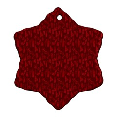 Bicycle Guitar Casual Car Red Snowflake Ornament (Two Sides)