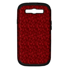 Bicycle Guitar Casual Car Red Samsung Galaxy S III Hardshell Case (PC+Silicone)