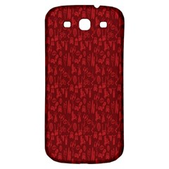 Bicycle Guitar Casual Car Red Samsung Galaxy S3 S III Classic Hardshell Back Case