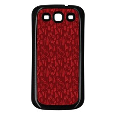Bicycle Guitar Casual Car Red Samsung Galaxy S3 Back Case (Black)