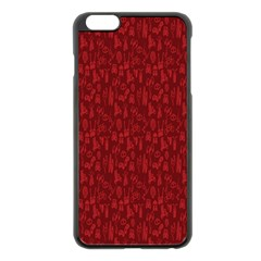 Bicycle Guitar Casual Car Red Apple iPhone 6 Plus/6S Plus Black Enamel Case