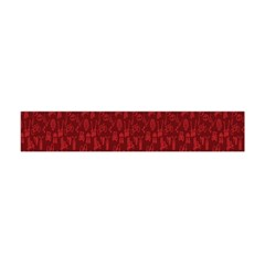 Bicycle Guitar Casual Car Red Flano Scarf (Mini)