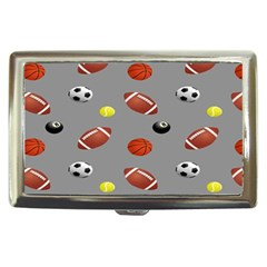 Balltiled Grey Ball Tennis Football Basketball Billiards Cigarette Money Cases