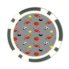 Balltiled Grey Ball Tennis Football Basketball Billiards Poker Chip Card Guard (10 pack)