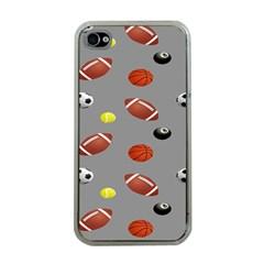 Balltiled Grey Ball Tennis Football Basketball Billiards Apple iPhone 4 Case (Clear)