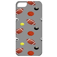 Balltiled Grey Ball Tennis Football Basketball Billiards Apple iPhone 5 Classic Hardshell Case