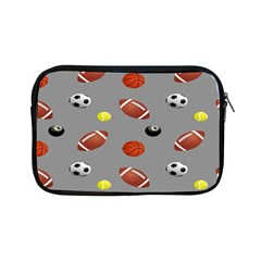 Balltiled Grey Ball Tennis Football Basketball Billiards Apple iPad Mini Zipper Cases