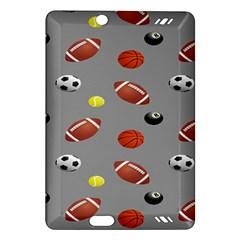 Balltiled Grey Ball Tennis Football Basketball Billiards Amazon Kindle Fire HD (2013) Hardshell Case
