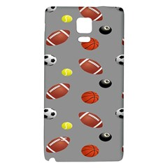 Balltiled Grey Ball Tennis Football Basketball Billiards Galaxy Note 4 Back Case