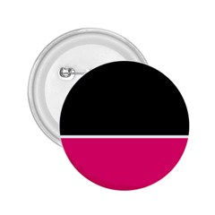 Black Pink Line White 2.25  Buttons