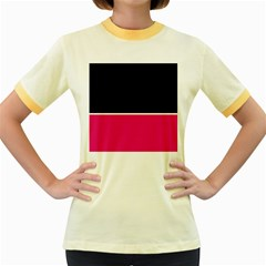 Black Pink Line White Women s Fitted Ringer T-Shirts