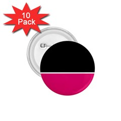 Black Pink Line White 1.75  Buttons (10 pack)