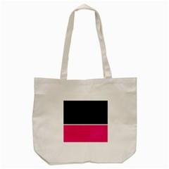 Black Pink Line White Tote Bag (Cream)