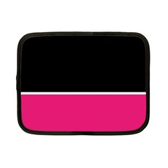 Black Pink Line White Netbook Case (Small)