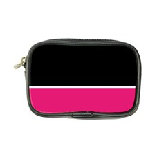 Black Pink Line White Coin Purse