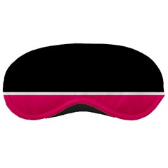 Black Pink Line White Sleeping Masks