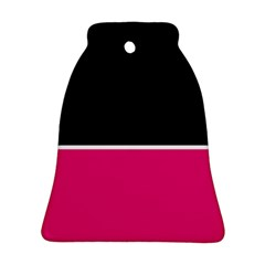 Black Pink Line White Ornament (Bell)