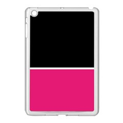Black Pink Line White Apple iPad Mini Case (White)