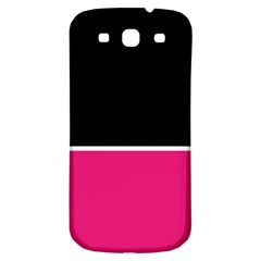 Black Pink Line White Samsung Galaxy S3 S III Classic Hardshell Back Case