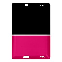 Black Pink Line White Amazon Kindle Fire HD (2013) Hardshell Case