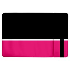 Black Pink Line White iPad Air Flip