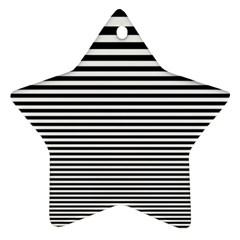 Black White Line Star Ornament (Two Sides)