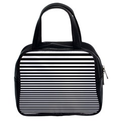 Black White Line Classic Handbags (2 Sides)