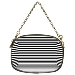 Black White Line Chain Purses (Two Sides)