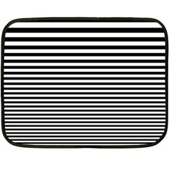Black White Line Fleece Blanket (Mini)