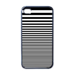 Black White Line Apple iPhone 4 Case (Black)