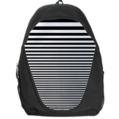 Black White Line Backpack Bag
