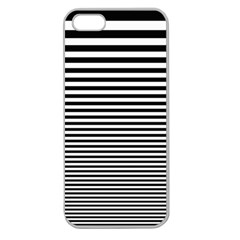 Black White Line Apple Seamless iPhone 5 Case (Clear)