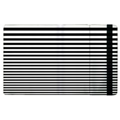 Black White Line Apple iPad 3/4 Flip Case