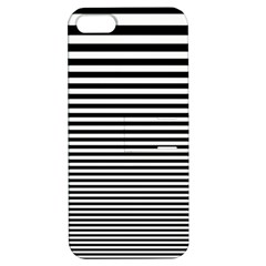 Black White Line Apple iPhone 5 Hardshell Case with Stand