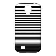 Black White Line Samsung Galaxy S4 Classic Hardshell Case (PC+Silicone)
