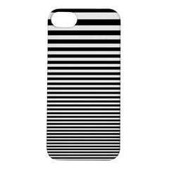 Black White Line Apple iPhone 5S/ SE Hardshell Case
