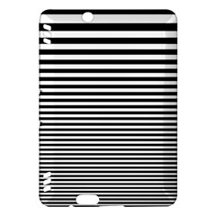 Black White Line Kindle Fire HDX Hardshell Case