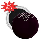 Black Cherry Scrolls Purple 2.25  Magnets (100 pack)  Front